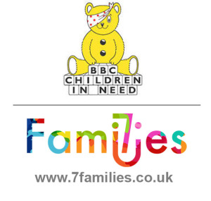 logo for children in need and 7 families