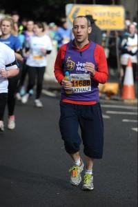 Matt Colley mid-race Bath Half Marathon 2015