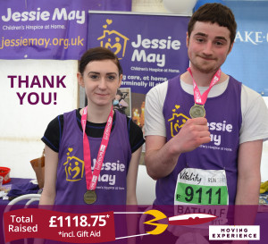 Will and Yvette with their medals at Jessie May stand