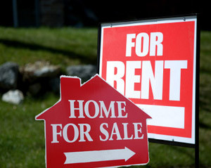 Rent or buy signs
